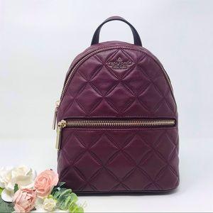 New Kate Spade Natalia Mini Backpack cherrywood